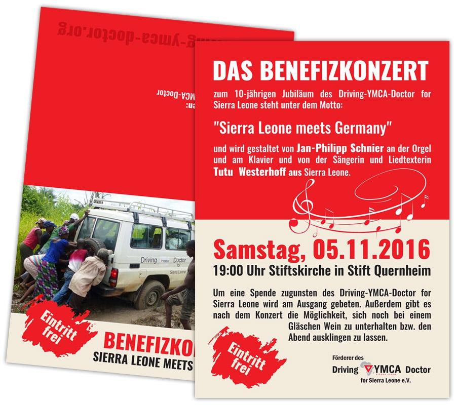 Förderer des Driving-YMCA-Doctor for Sierra Leone e.V. - Einladungskarten DIN A7