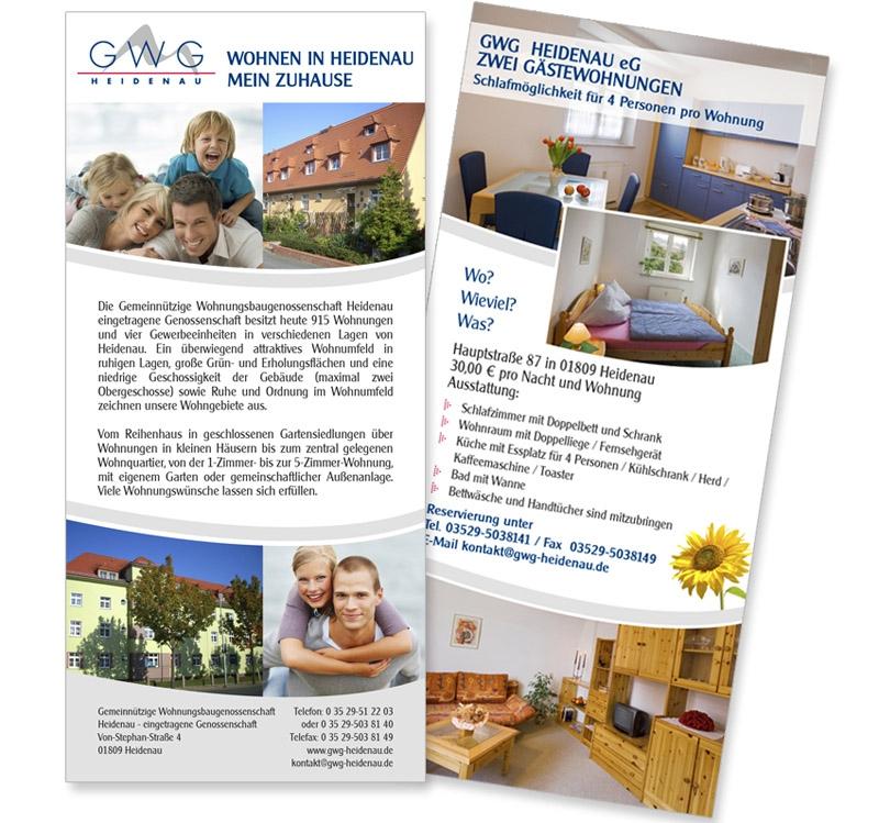 GWG Heidenau eG - Flyer DIN lang