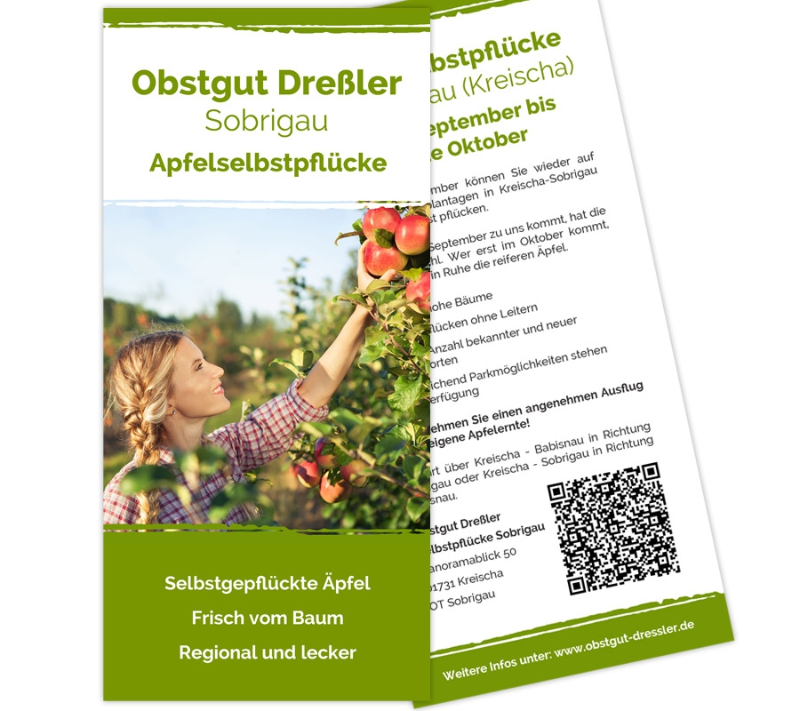 Obstgut Dreßler Kreischa OT Sobrigau - Flyer DIN lang