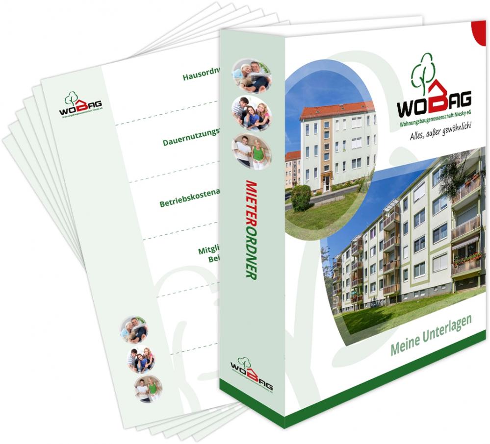 WOBAG Niesky eG  | Mieterordner und Einlegeregister mit Deckblatt