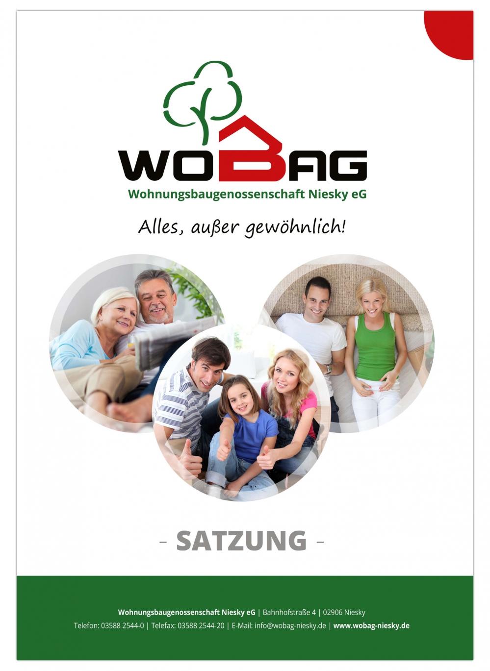 WOBAG Niesky eG - Satzung als Broschüre DIN A4 - 24-seitig