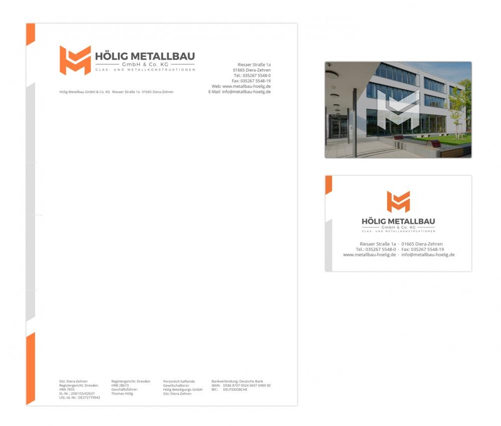 Hölig Metallbau GmbH & Co. KG | Briefpapier und Visitenkarten