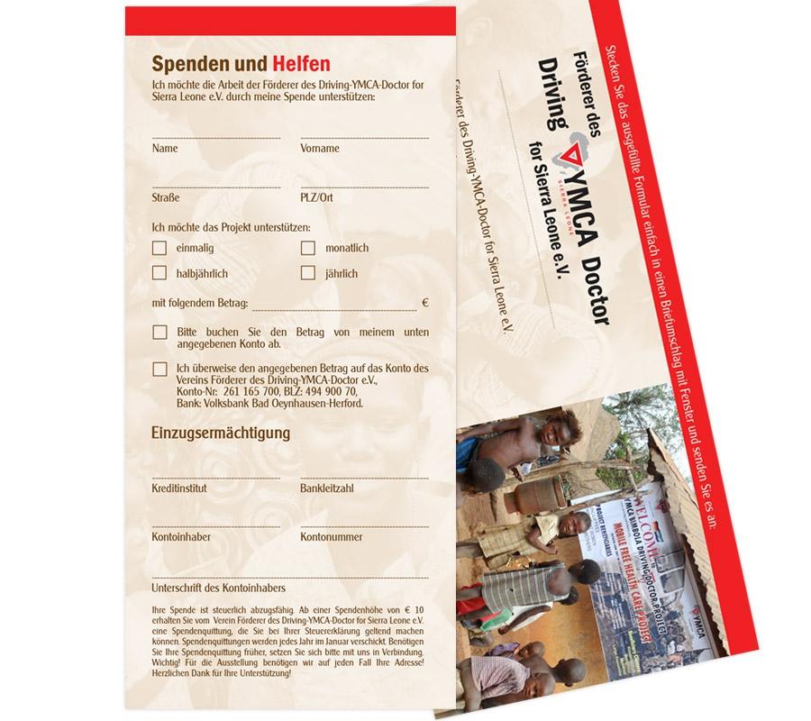 Förderer des Driving-YMCA-Doctor for Sierra Leone e.V. - Einlegeblatt DIN lang