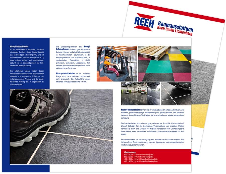 Raumausstattung Reeh GmbH Lichtenberg - Faltblatt A4